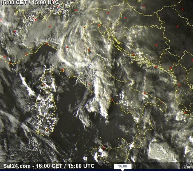 "Morte del ""ciclone mediterraneo"" - sat24.com"