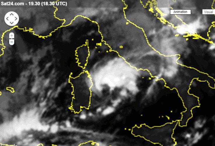 Esposizione Attorno Al Mediterraneo : Ciclone mediterraneo in arrivo su sardegna e lazio