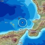 Terremoto M 4.5 Richter nella zona delle Isole Eolie, avvertito in Sicilia e Calabria