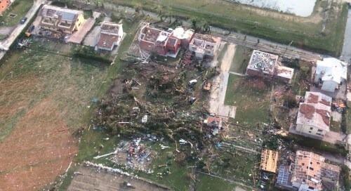 Tornado Veneto: terribile video all'interno del vortice