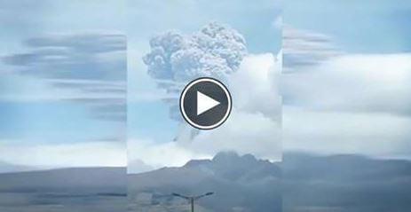 Eruzione vulcano Cotopaxi in Ecuador, è considerato uno dei vulcani più pericolosi al mondo