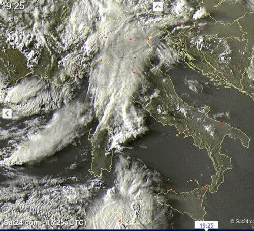 Temporali intensi al Nord e sul Canale di Sicilia, la situazione - sat24.com