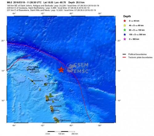 terremoto caraibi