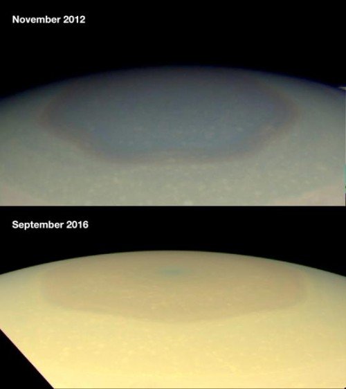 Saturno, la tempesta esagonale cambia colore: l'incredibile fenomeno