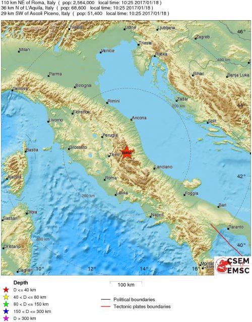 Centro Italia, tre forti scosse Roma, evacuata la metropolitana
