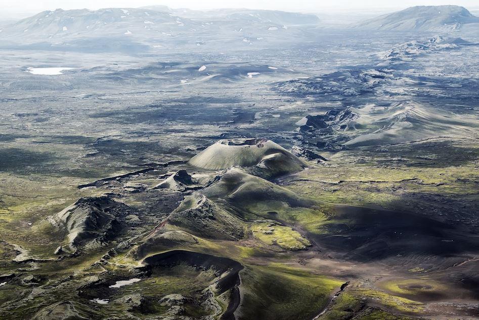 Panoramica dall'alto del Laki