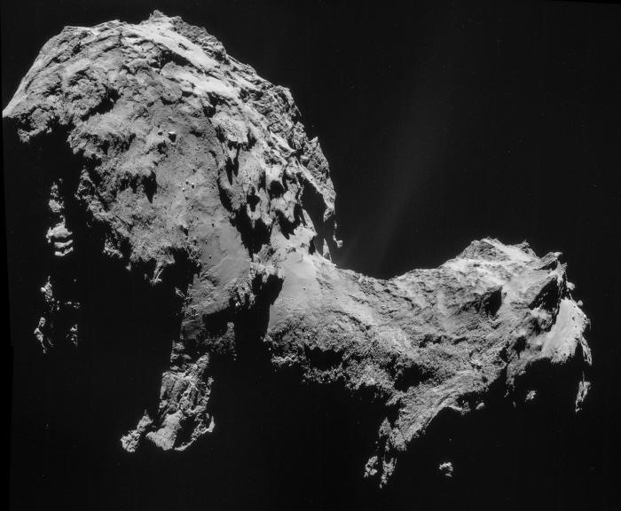 Cometa 67P/Churyumov-Gerasimenko dalla sonda Rosetta - NASA