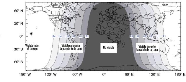 Ecco dove è stata osservata oggi l'Eclissi totale di Luna
