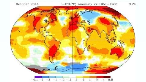 Dati riportati dal Goddard Institute for Space Studies della Nasa