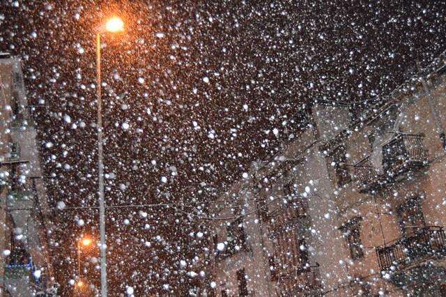 Nevicate in arrivo sulle coste di Sicilia, Calabria, Basilicata e Puglia
