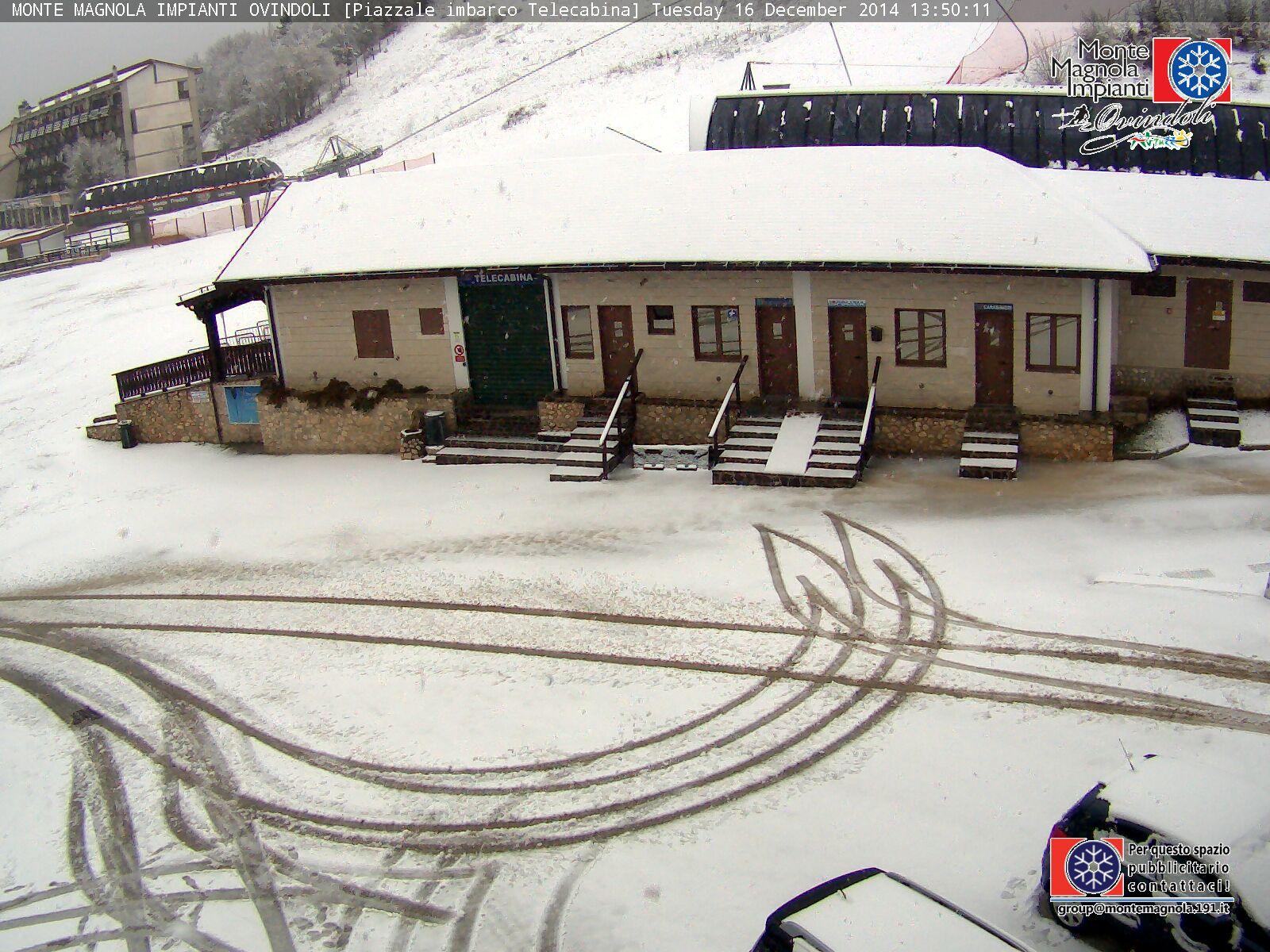 Ovindoli, prima spolverata di neve nel mese di Dicembre (e siamo al 16...)