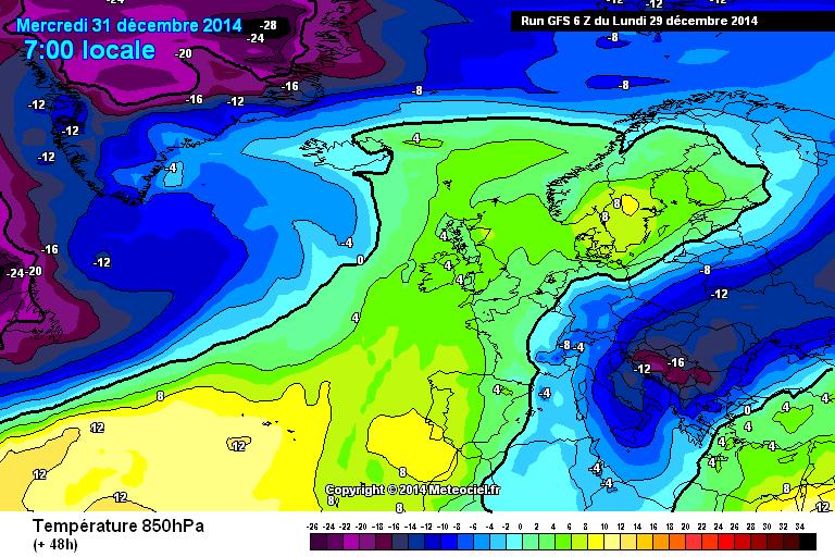 Gelo per la giornata del 31 Dicembre - www.meteociel.fr