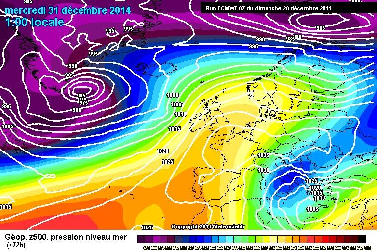 Gelo in arrivo tra 30 e 31, probabile neve fin sulle coste del Sud Italia - www.meteociel.fr