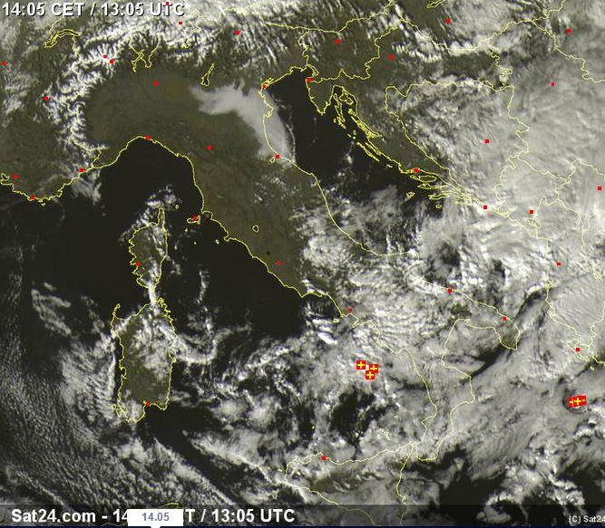 Maltempo al Sud Italia - sat24.com