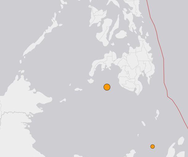 Terremoto a Sud delle Filippine - dati epicentro a cura USGS