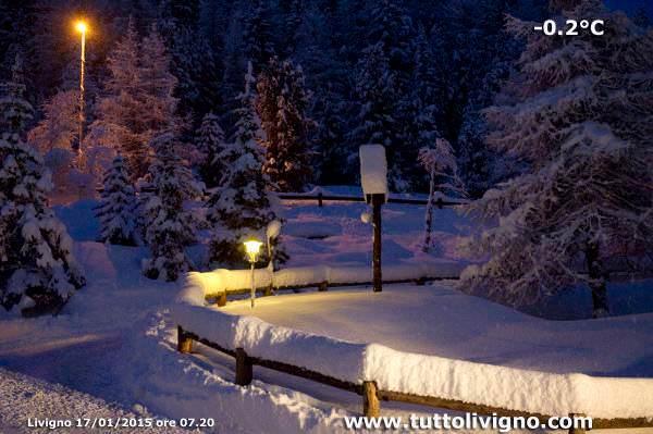 Spettacolare scatto della neve a Livigno - www.tuttolivigno.com