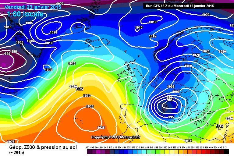 Freddo e maltempo in arrivo dopo il 17/18: torna anche la neve in pianura? - www.meteociel.fr