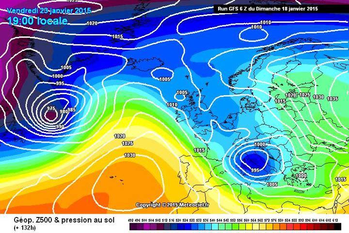 Depressione con possibile neve a quote medio-basse per Venerdì 3 Gennaio? Staremo a vedere - www.meteociel.fr