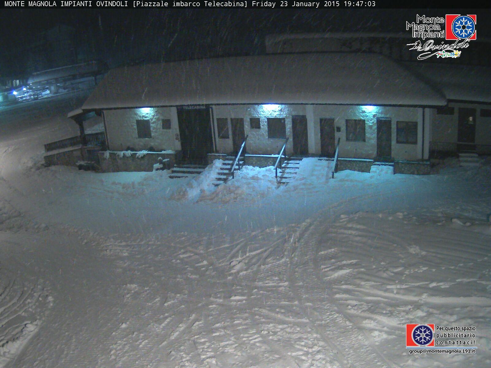 Forte nevicata in atto a Ovindoli