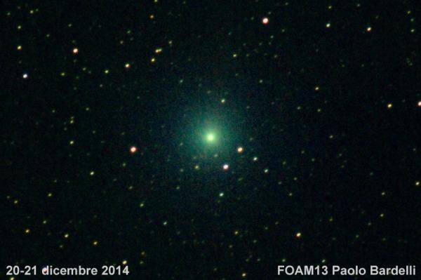 La cometa Lovejoy fotografata da Paolo Bardelli