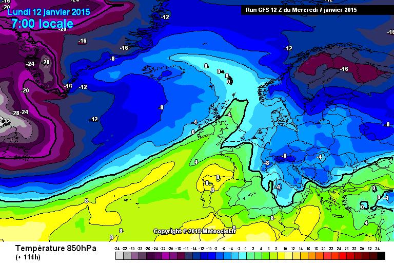 Fase fresca attesa per il 12/13 Gennaio - www.meteociel.fr