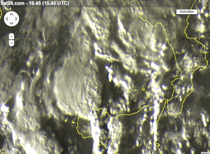 Supercella temporalesca sulla Sicilia occidentale - sat24.com