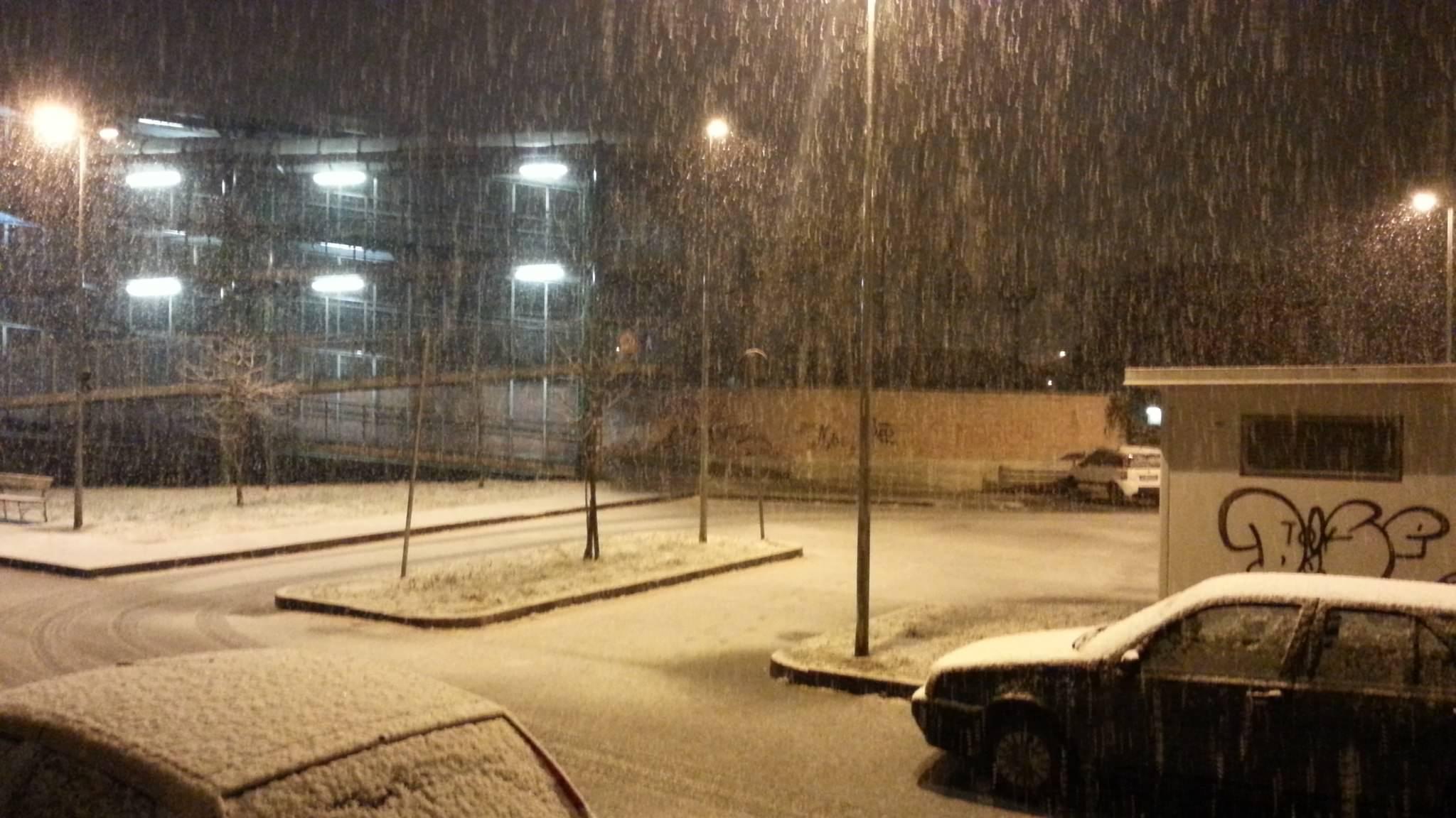 Neve a Torino - foto di Neeno via Meteonetwork
