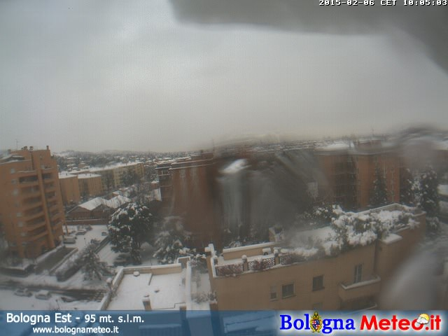La neve caduta a Bologna, oltre 20 centimetri - www.bolognameteo.it