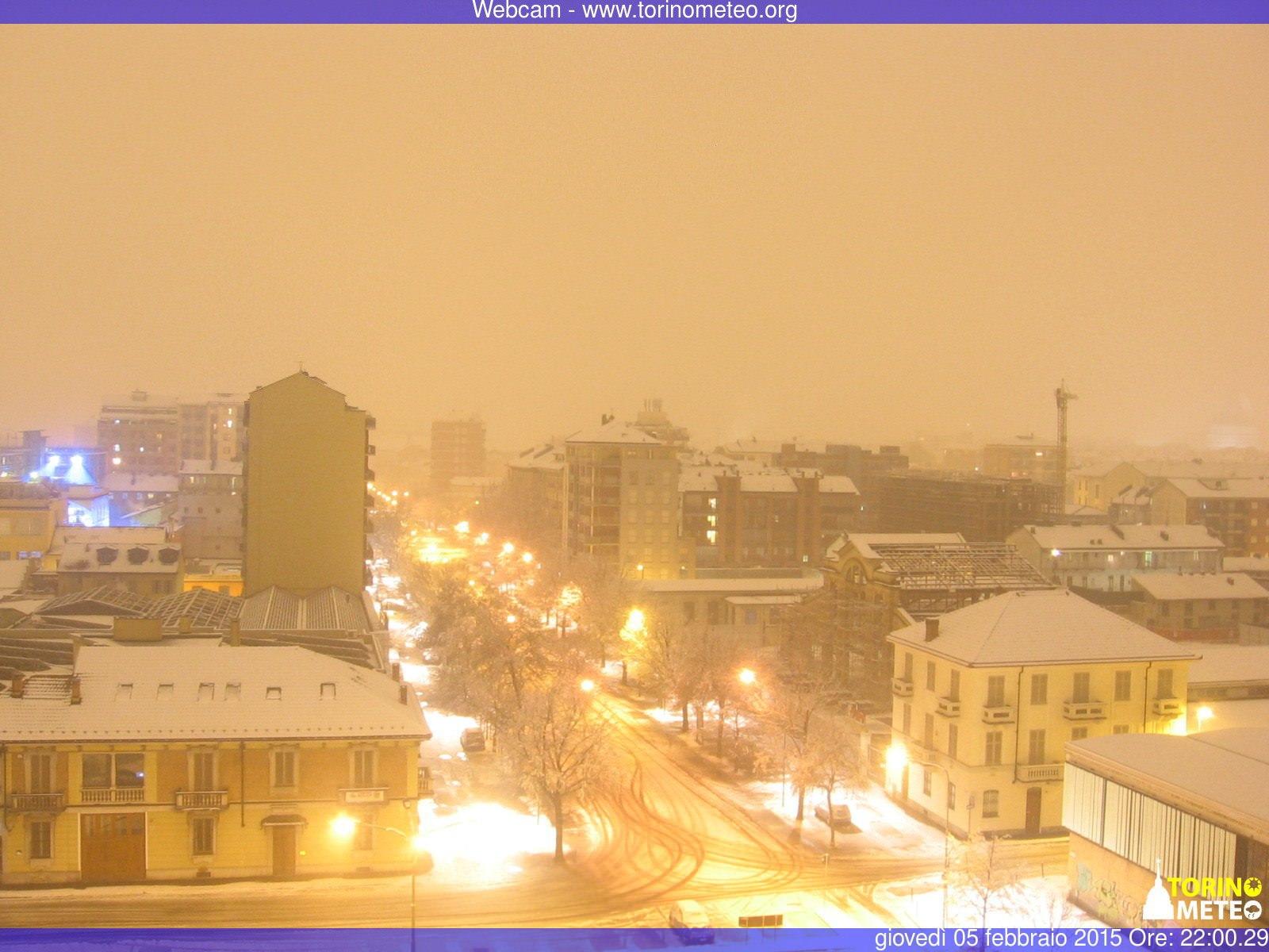 La neve in atto a Torino - www.torinometeo.org