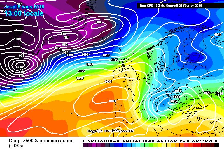5/7 Marzo ad alto rischio neve a bassa quota - www.meteociel.fr