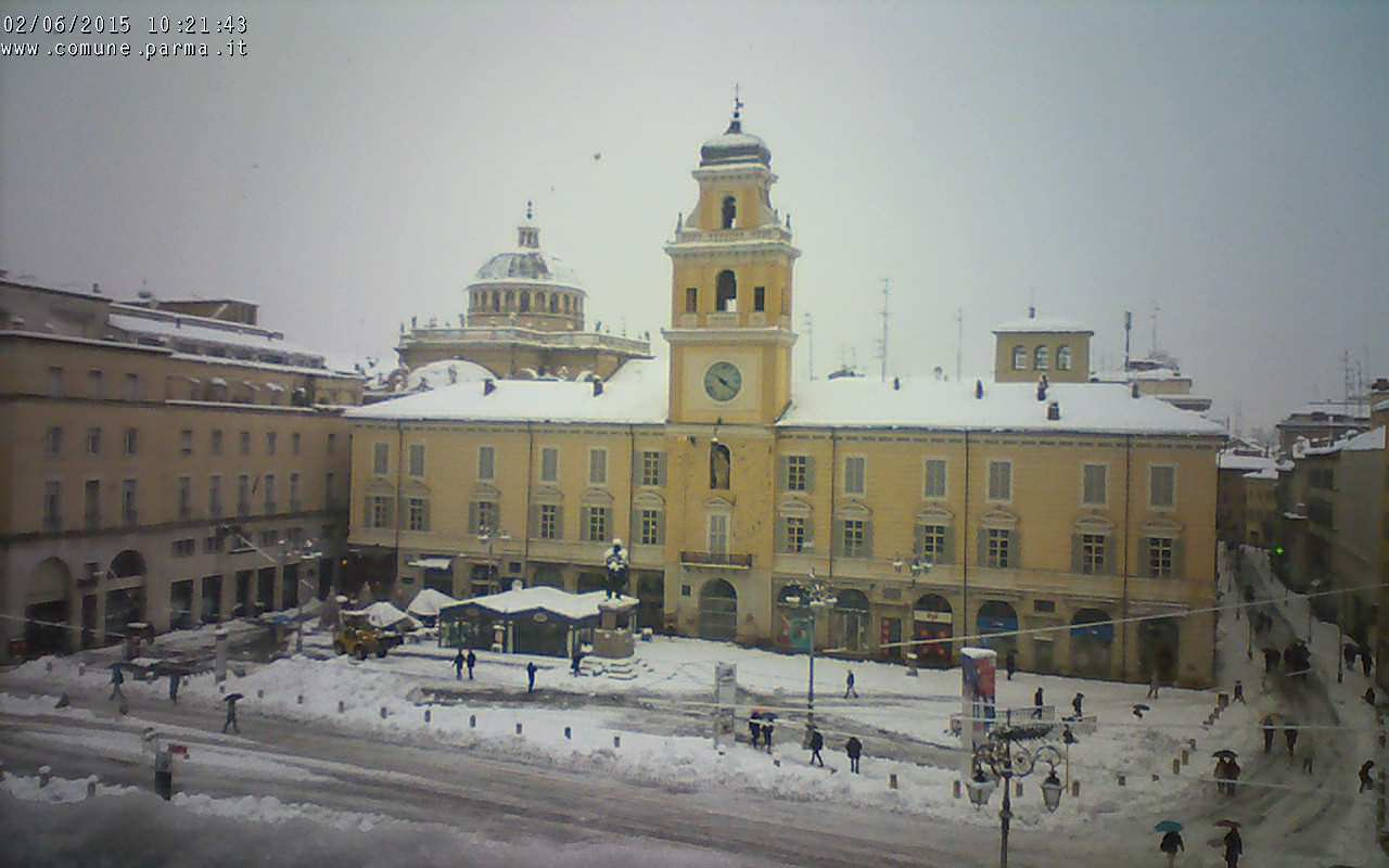 Webcam di Parma, oltre 40 centimetri