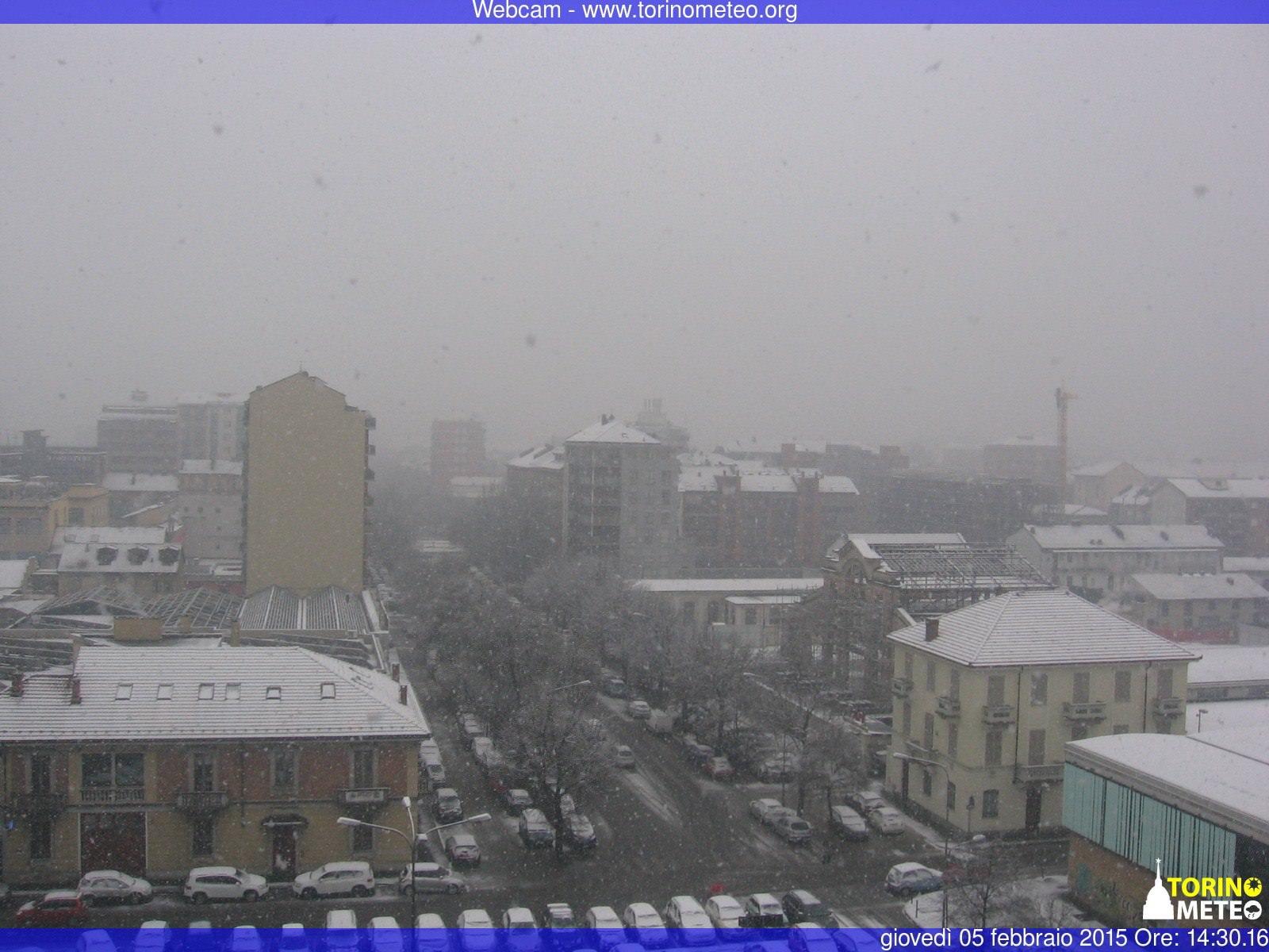 Forte nevicata a Torino - www.torinometeo.org