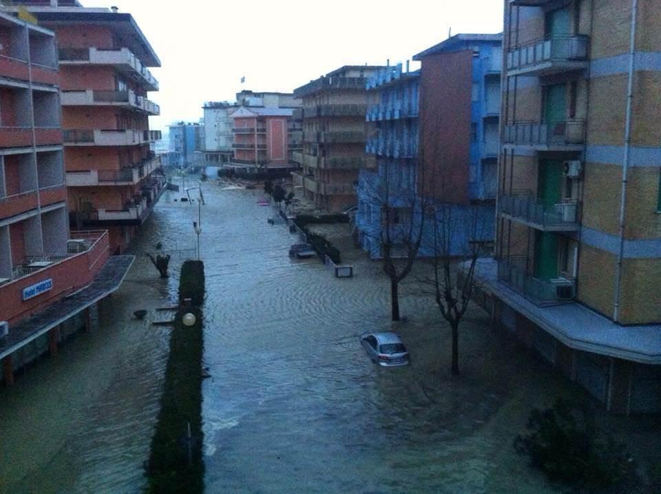 Situazione seria a Valverde, sulla costa della Romagna