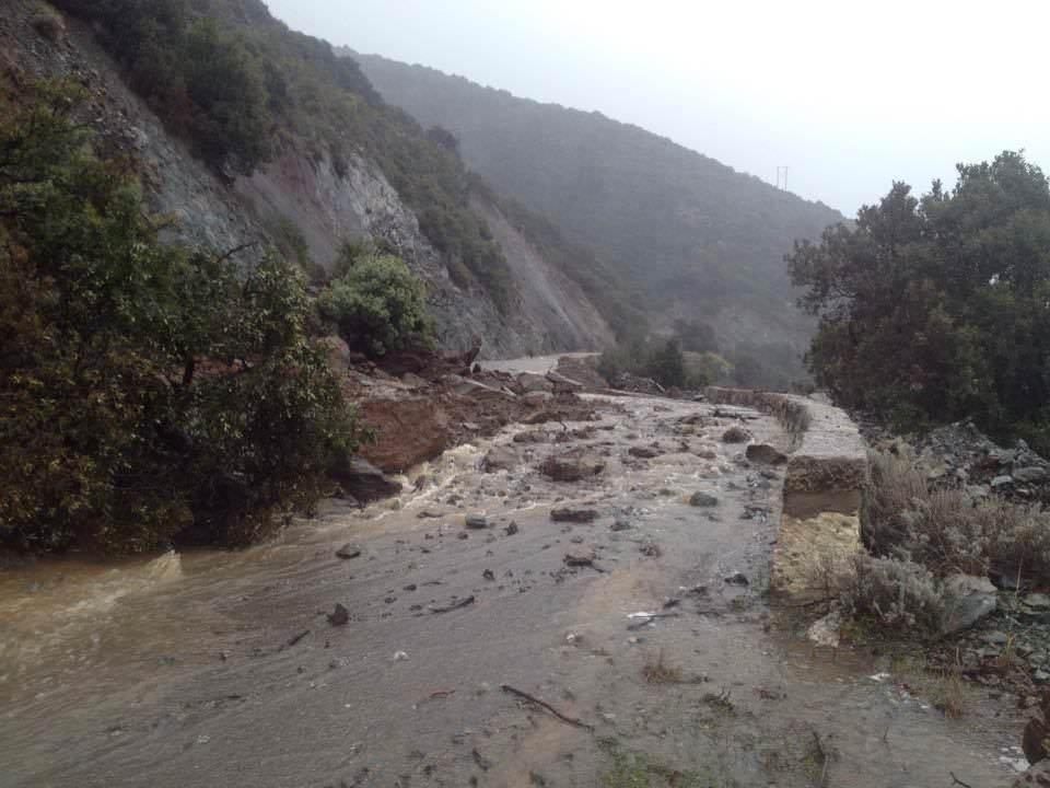 Questa la situazione a Ovest di Bastia, Corsica