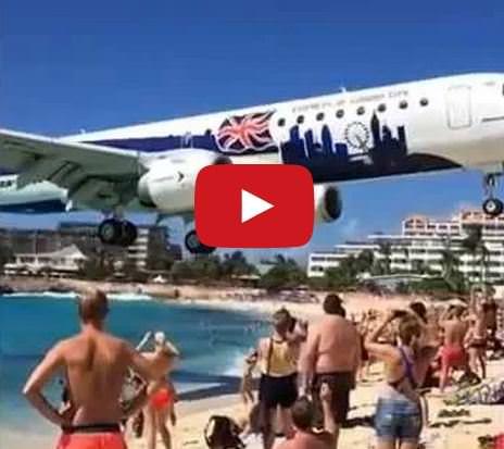 Atterraggio al cardiopalma di un aereo a Saint Martin, accade ogni giorno, il video - Youtube