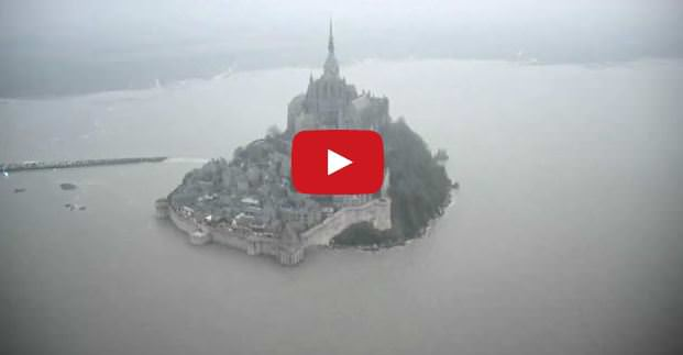 Marea del secolo in Francia: lo straordinario video da Mont Saint Michel - Youtube