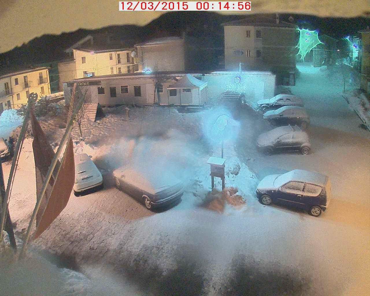 Forte nevicata a Campotosto, irrompe l'aria fredda