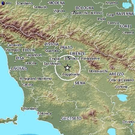 Terremoto Toscana: significativo evento 3.0 Richter avvertito dalla popolazione - INGV