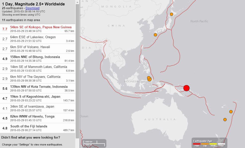 Tsunami warming nel Pacifico, violento terremoto a Papua Nuova Guinea - USGS