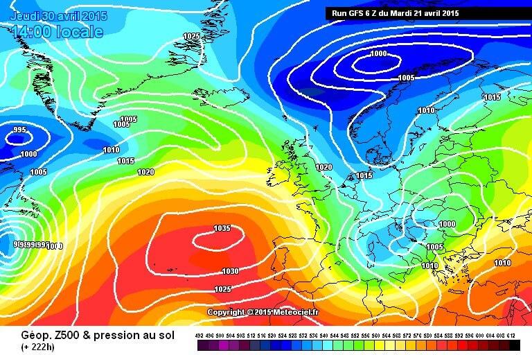 Conferme sull'arrivo di freddo e forte maltempo sul finire del mese di Aprile - www.meteociel.fr