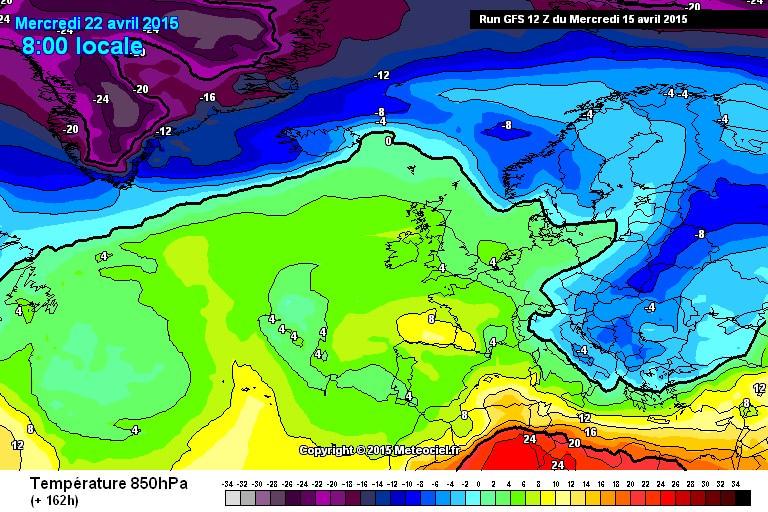 Freddo in arrivo: nel fine settimana cambio circolatorio, tornano neve e temporali - www.meteociel.fr