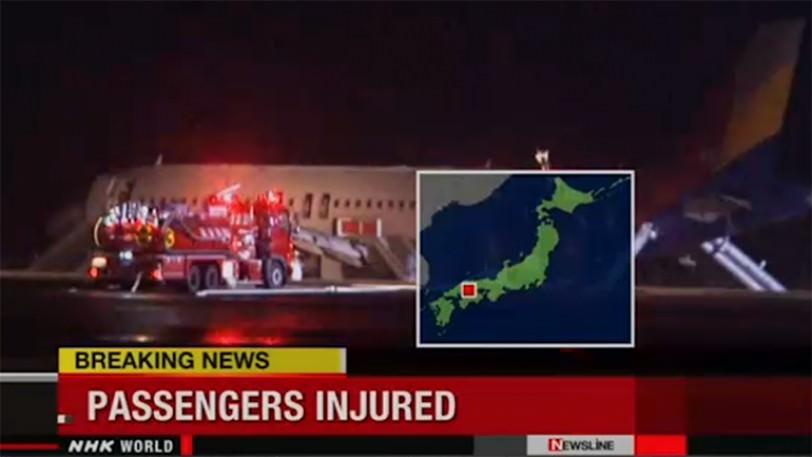 Incidente aereo Hiroshima: aereo della Air Asia finisce fuori pista, decine di feriti