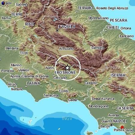 Terremoto Lazio: registrata scossa di magnitudo 3.2, avvertita da molte persone - dati INGV