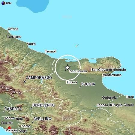 Terremoto oggi Puglia: avvertita scossa di terremoto con epicentro a Foggia - Mappa e dati INGV