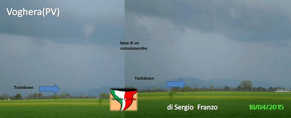 Piccolo tornado a Voghera, foto di Sergio Franzo