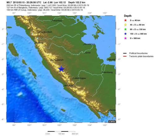 Scossa di terremoto a Sumatra, magnitudo 6.0 Richter, Indonesia - EMSC