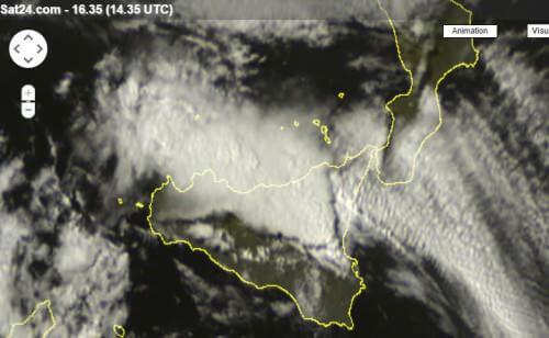 Violento sistema temporalesco in Sicilia - sat24.com
