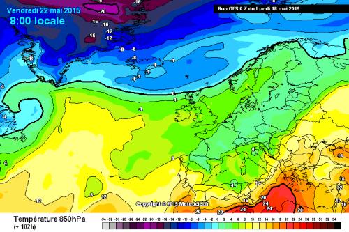 Temperature in aumento sull'Italia, ma dal week-end nuovo calo termico - meteociel.fr