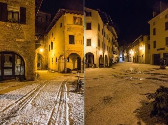 Violenta grandinata in Friuli-Venezia Giulia, a Spilimbergo chicchi fino a 4 cm di diametro - foto Vivi Spilimbergo