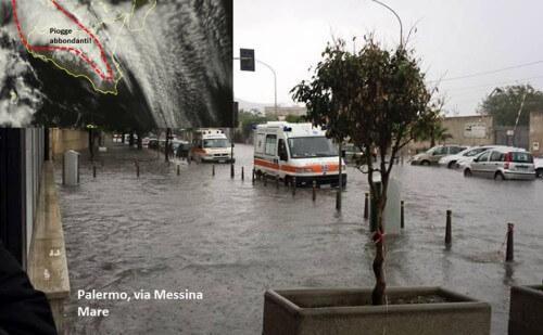 Nubifragio a Palermo - foto Rete meteo amatori